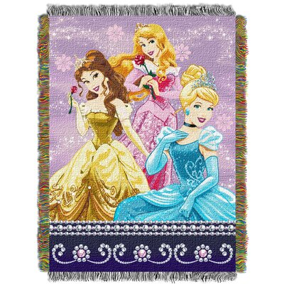 Disney Princesses Sparkle Dream Woven Tapestry Throw