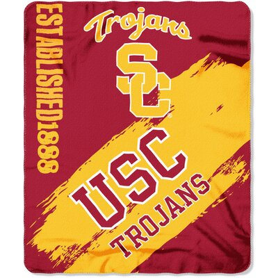 Collegiate University of Southern California Painted Fleece Throw