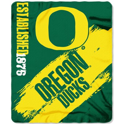 Collegiate Oregon Painted Fleece Throw