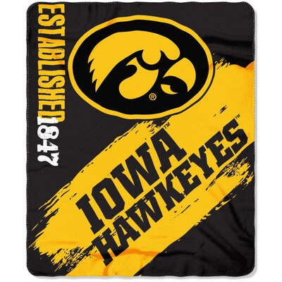 Collegiate Iowa Painted Fleece Throw