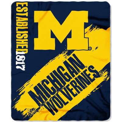 Collegiate Michigan Painted Fleece Throw
