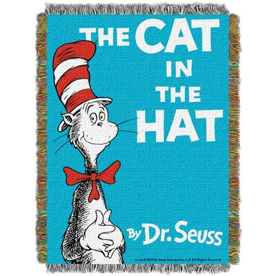 Dr. Seuss Cat Book Cover Throw