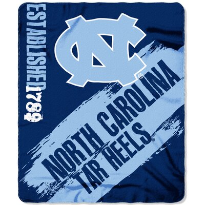 Collegiate University of North Carolina Painted Fleece Throw