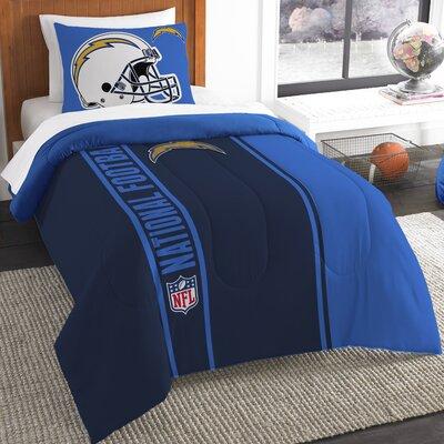 NFL Chargers Helmet Comforter Set Size: Twin