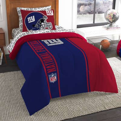 NFL New York Giants Comforter Set Size: Twin