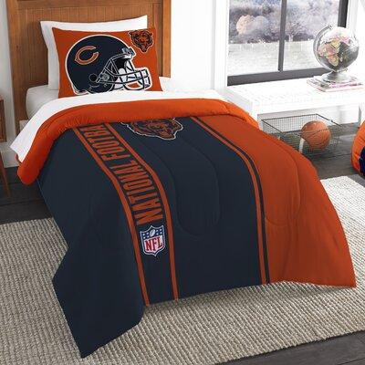 NFL Bears Helmet Comforter Set Size: Twin