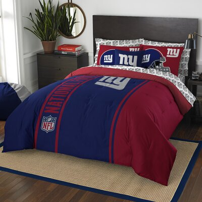 NFL New York Giants Comforter Set Size: Full