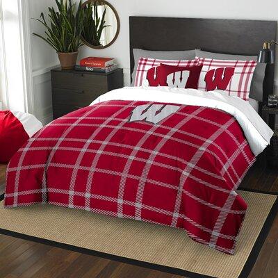 Collegiate Wisconsin Comforter Set Size: Full