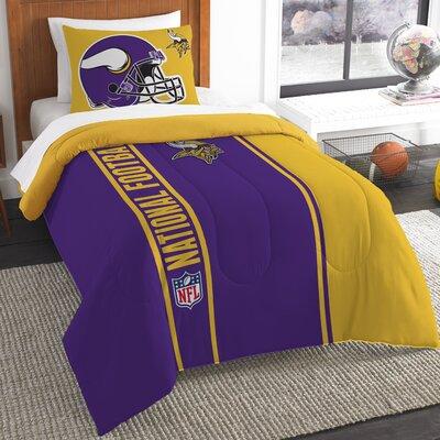 NFL Vikings Helmet Comforter Set Size: Twin