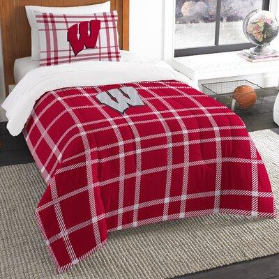 Collegiate Wisconsin Comforter Set Size: Twin