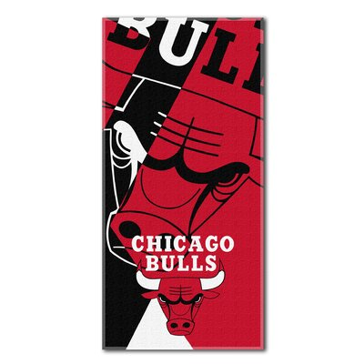 NBA Bulls Puzzle Beach Towel