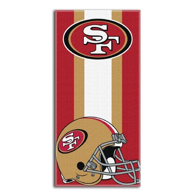 NFL 49Ers Zone Read Beach Towel