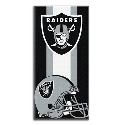 NFL Raiders Zone Read Beach Towel
