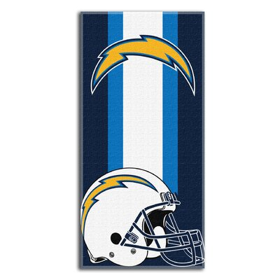 NFL Chargers Zone Read Beach Towel