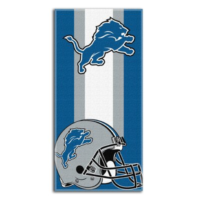 NFL Lions Zone Read Beach Towel