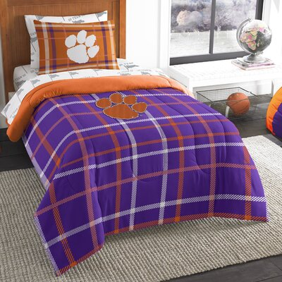 Collegiate Clemson 5 Piece Twin Comforter Set