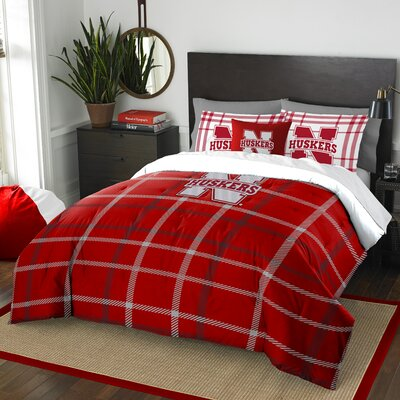 Collegiate Nebraska Comforter Set Size: Full