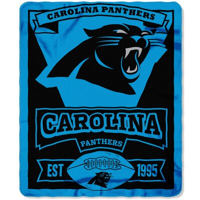 NFL Panthers Marque Fleece Throw