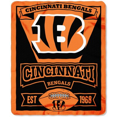 NFL Bengals Marque Fleece Throw