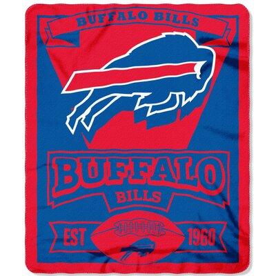 NFL Bills Marque Fleece Throw