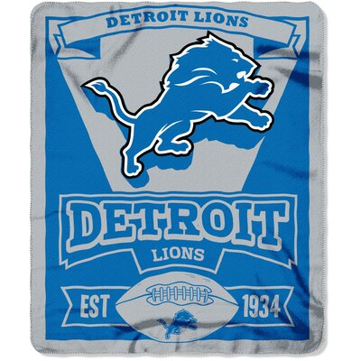 NFL Lions Marque Fleece Throw