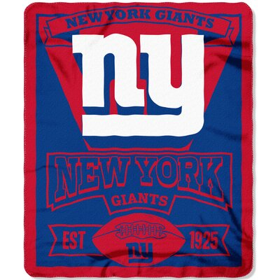 NFL New York Giants Marque Fleece Throw