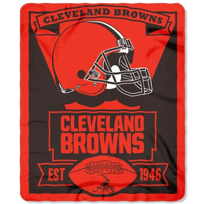 NFL Browns Marque Fleece Throw