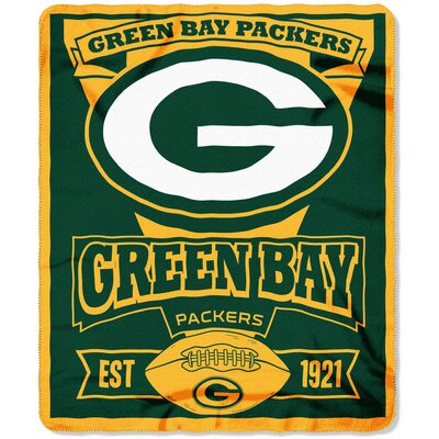 NFL Packers Marque Fleece Throw
