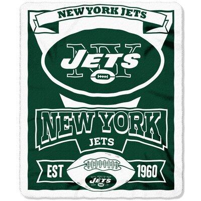 NFL Jets Marque Fleece Throw