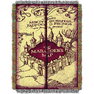 Harry Potter Marauders Map Throw