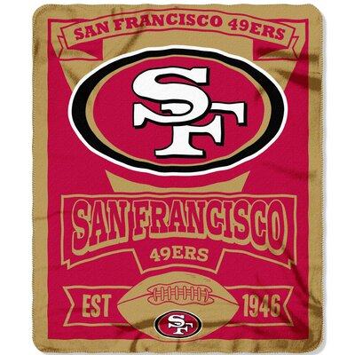 NFL 49ERS Marque Fleece Throw