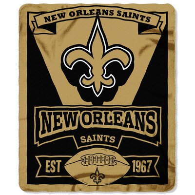 NFL Saints Marque Fleece Throw