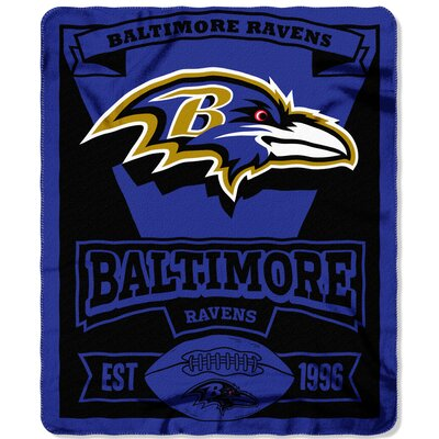 NFL Ravens Marque Fleece Throw