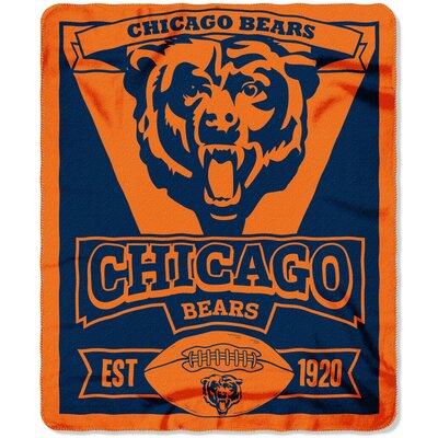 NFL Bears Marque Fleece Throw