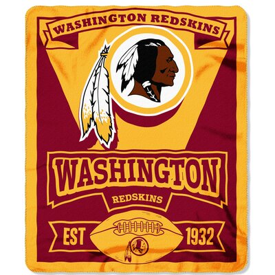 NFL Redskins Marque Fleece Throw