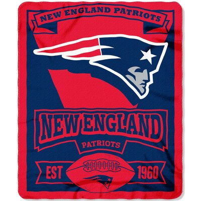NFL Patriots Marque Fleece Throw