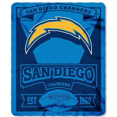 NFL Chargers Marque Fleece Throw