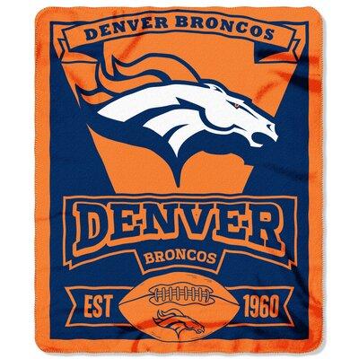 NFL Broncos Marque Fleece Throw