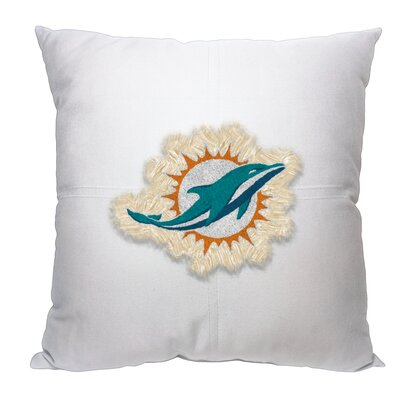 NFL Dolphins Cotton Throw Pillow