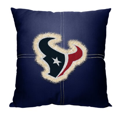 NFL Texans Cotton Throw Pillow