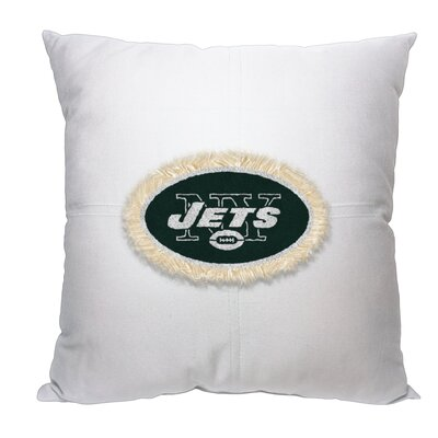 NFL Jets Cotton Throw Pillow