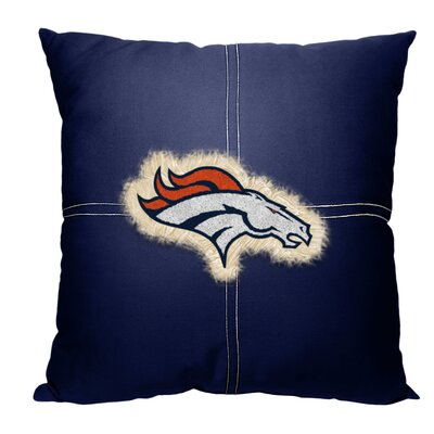 NFL Broncos Cotton Throw Pillow