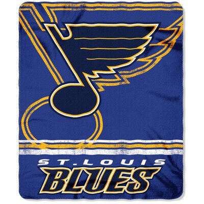 NHL Blues Fade Away Throw
