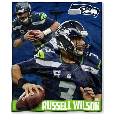NFL Seattle Seahawks Russell Wilson Players HD Silk Touch Throw