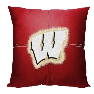 Collegiate Wisconsin Cotton Throw Pillow
