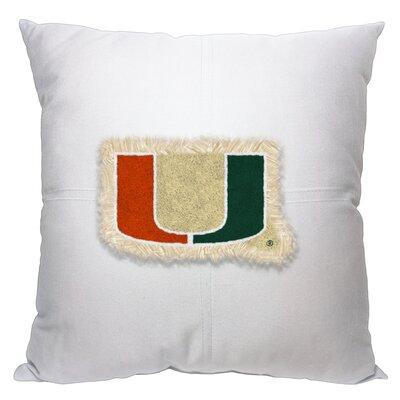 Collegiate Miami Cotton Throw Pillow