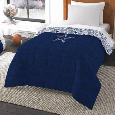 NFL Cowboys Anthem Comforter Size: Twin