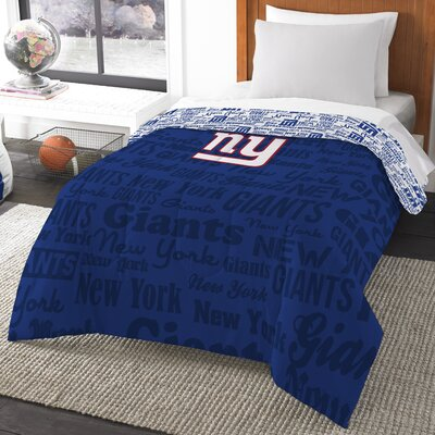 NFL New York Giants Anthem Comforter Size: Twin