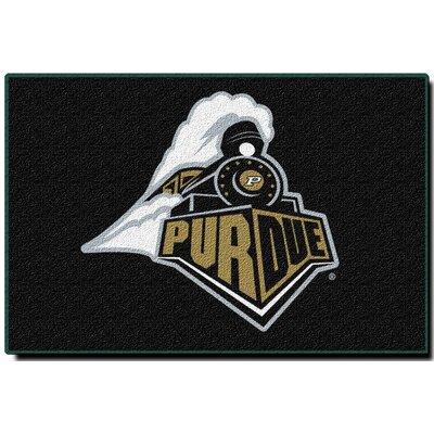 Collegiate Purdue Black Area Rug