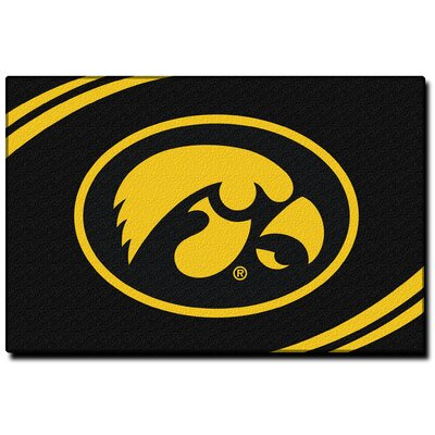 Collegiate Iowa Black Area Rug